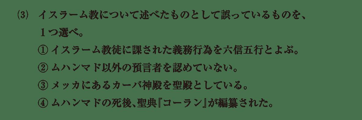 高校世界史 イスラーム世界8 問題3(3)