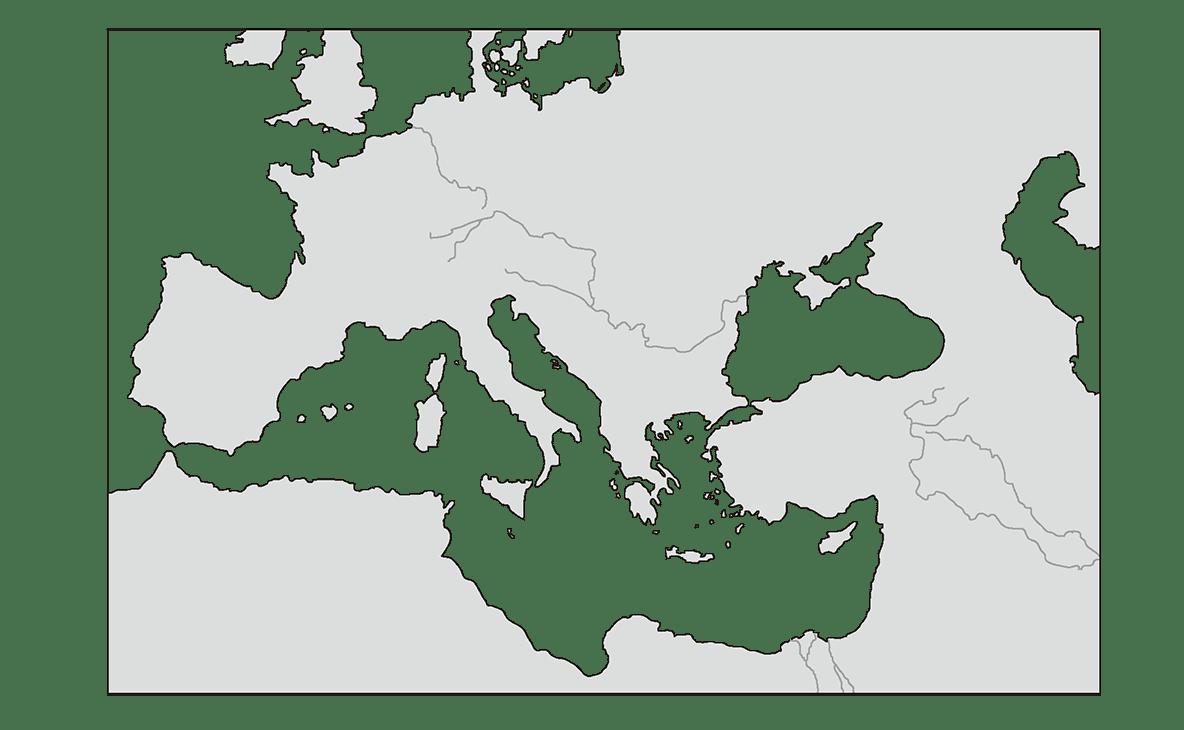 高校世界史 中世ヨーロッパ世界の成立0 右頁地図のみ