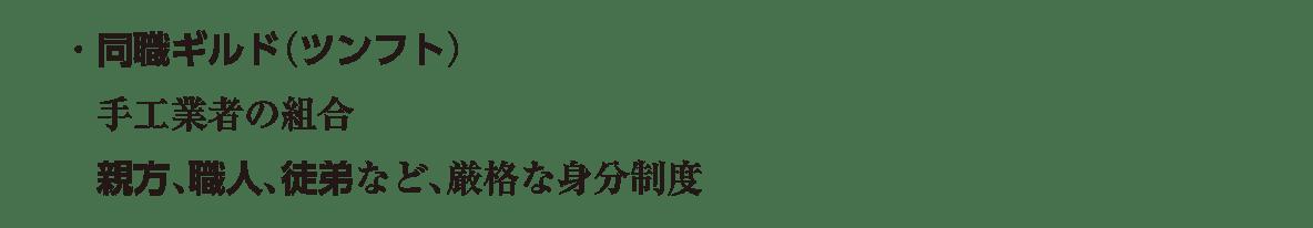 ポ3 次の3行/・同職ギルド~厳格な身分制度