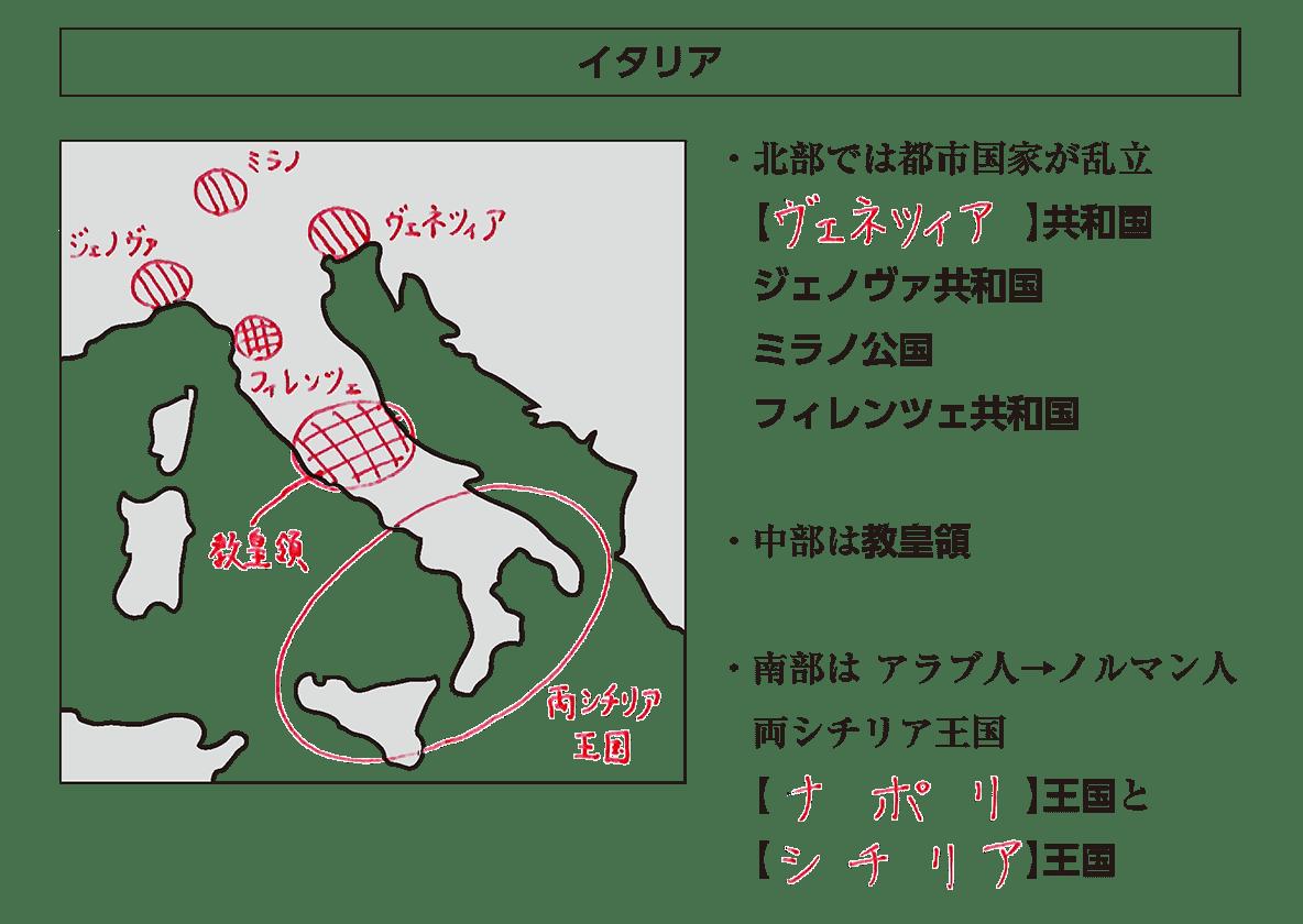 高校世界史 中世ヨーロッパ世界の各国史3 ポ1 答え全部
