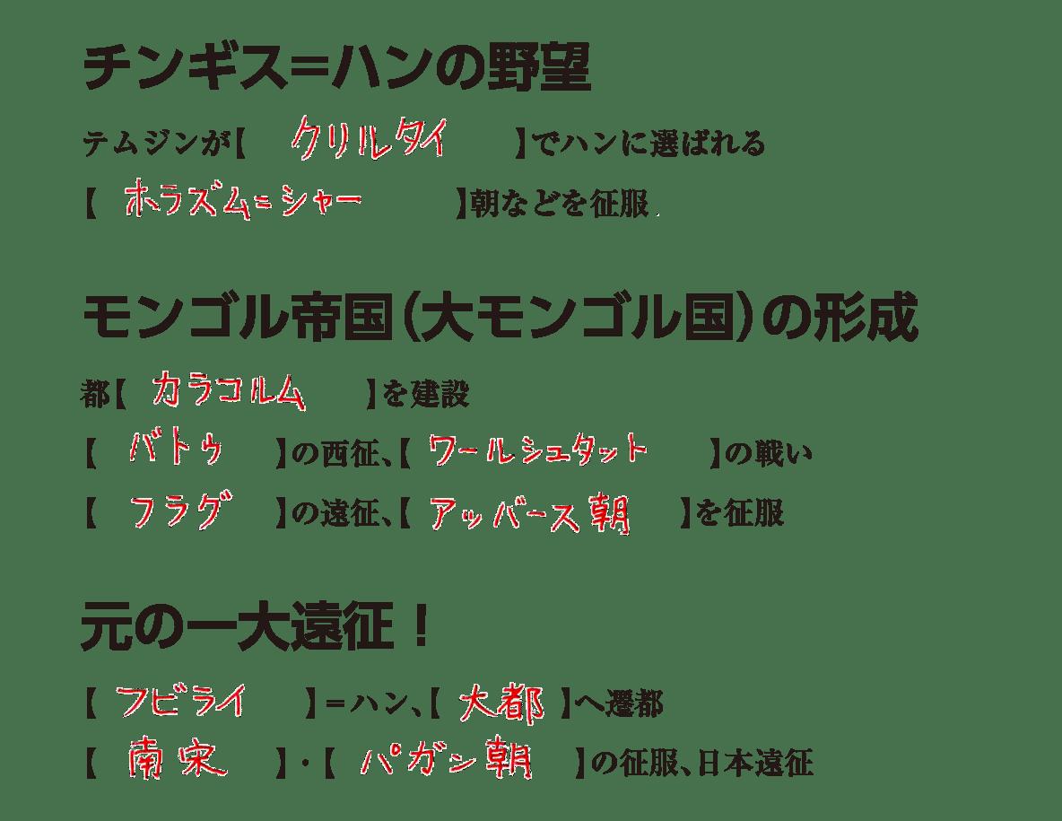 高校世界史 東アジア世界の展開4 練習