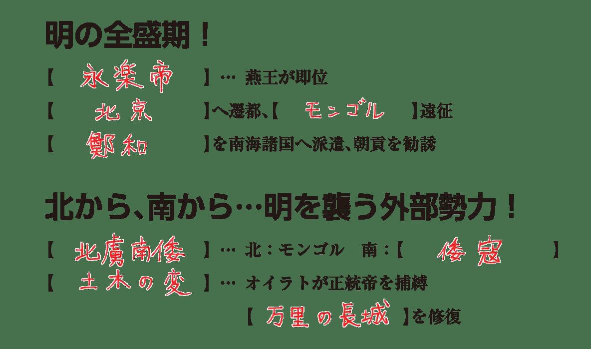 高校世界史 明・清の時代2 練習