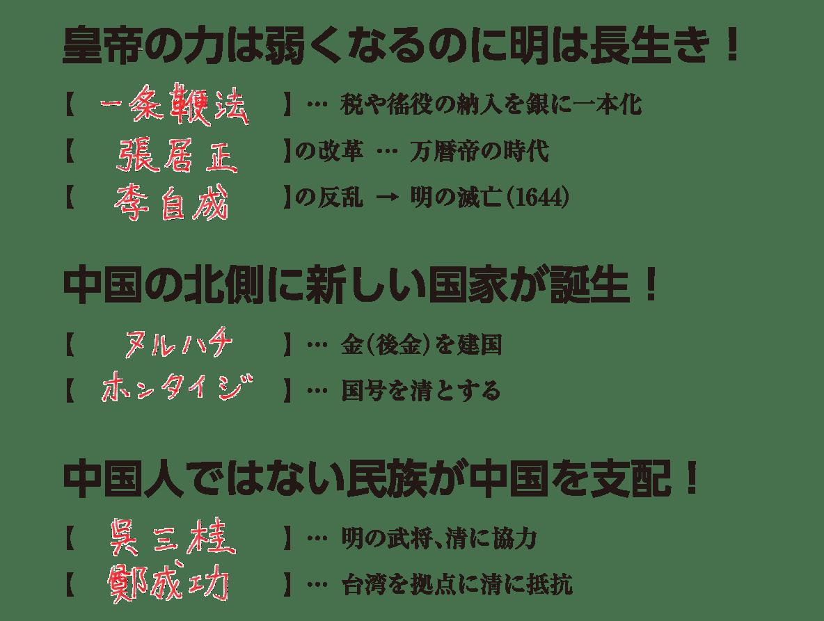 高校世界史 明・清の時代3 練習