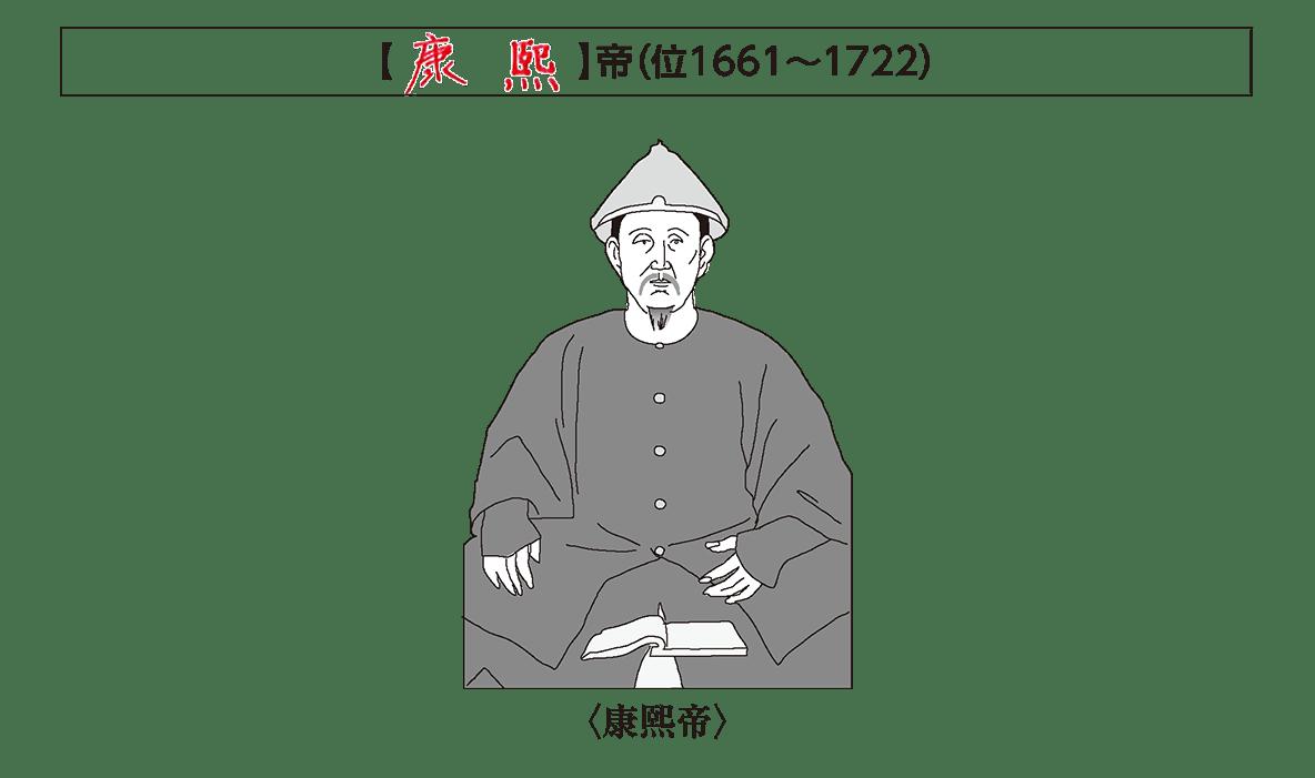 ポ1「康熙帝」の小見出し+康熙帝のイラストのみ/イラストを中央or左寄せでお願いします