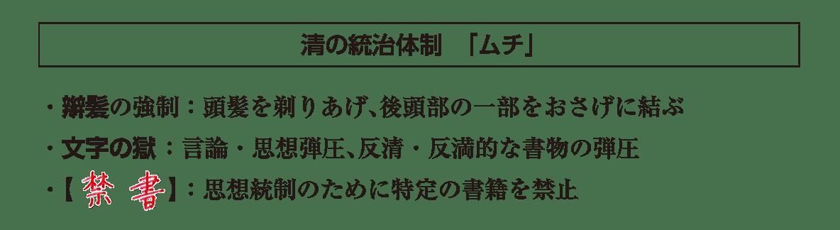 ポ2後半/清の統治体制「ムチ」の項目/答えアリ