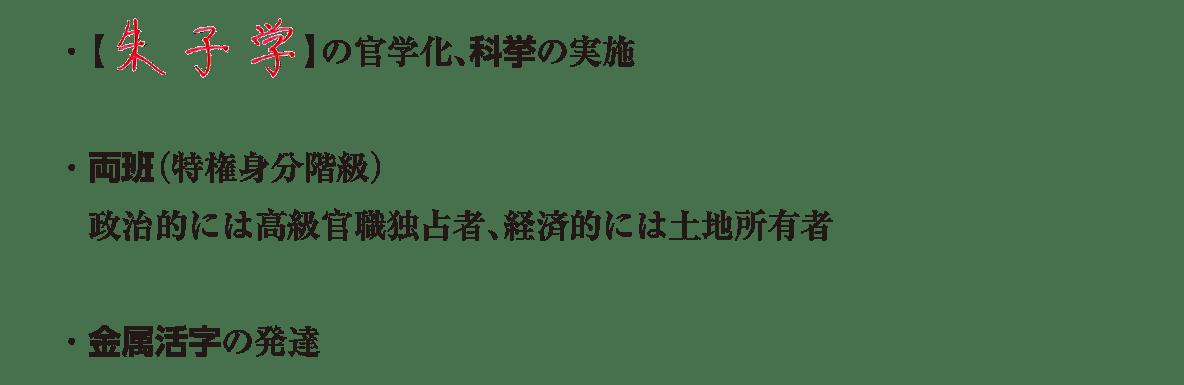 image04の続き4行/・朱子学の~・金属活字の発達