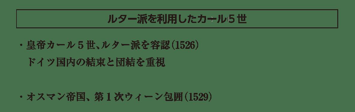 「ルター派を利用したカール5世」の見出し+下部テキスト3行/ラスト2行はカット