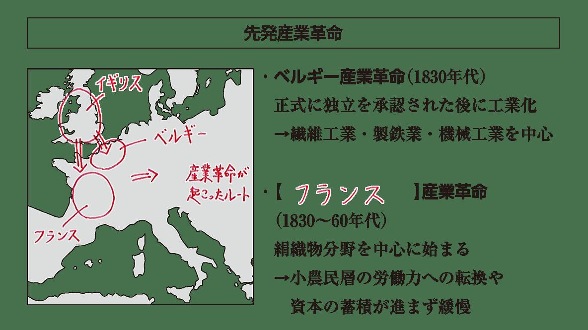 「先発産業革命」見出し+地図+イラスト