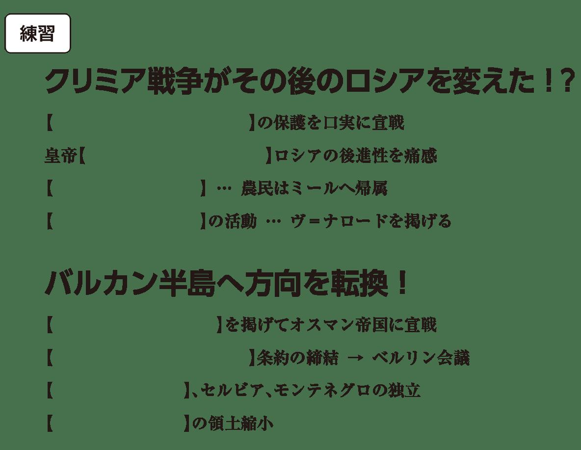 高校世界史 19世紀の欧米諸国(2)露・米2 練習 括弧空欄