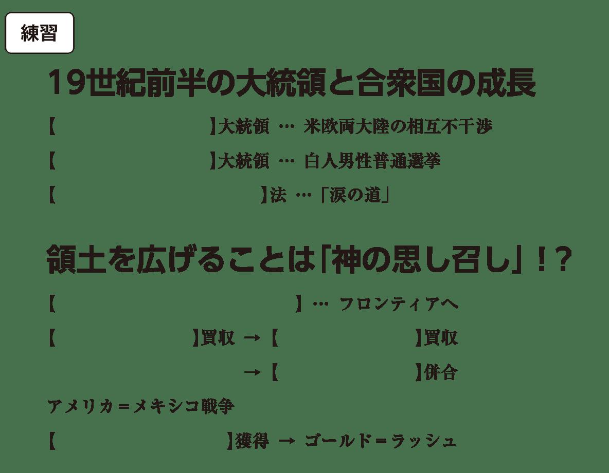 高校世界史 19世紀の欧米諸国(2)露・米3 練習 括弧空欄