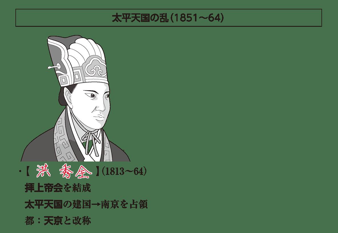 「太平天国の乱」見出し+イラスト+テキスト4行/~都:天京と改称