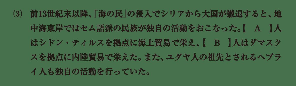 高校世界史 古代オリエント7 (3)の問題文のみ