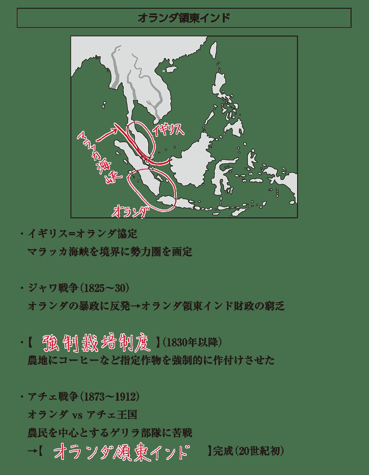アジア諸地域の植民地化2 ポイント1 答え全部