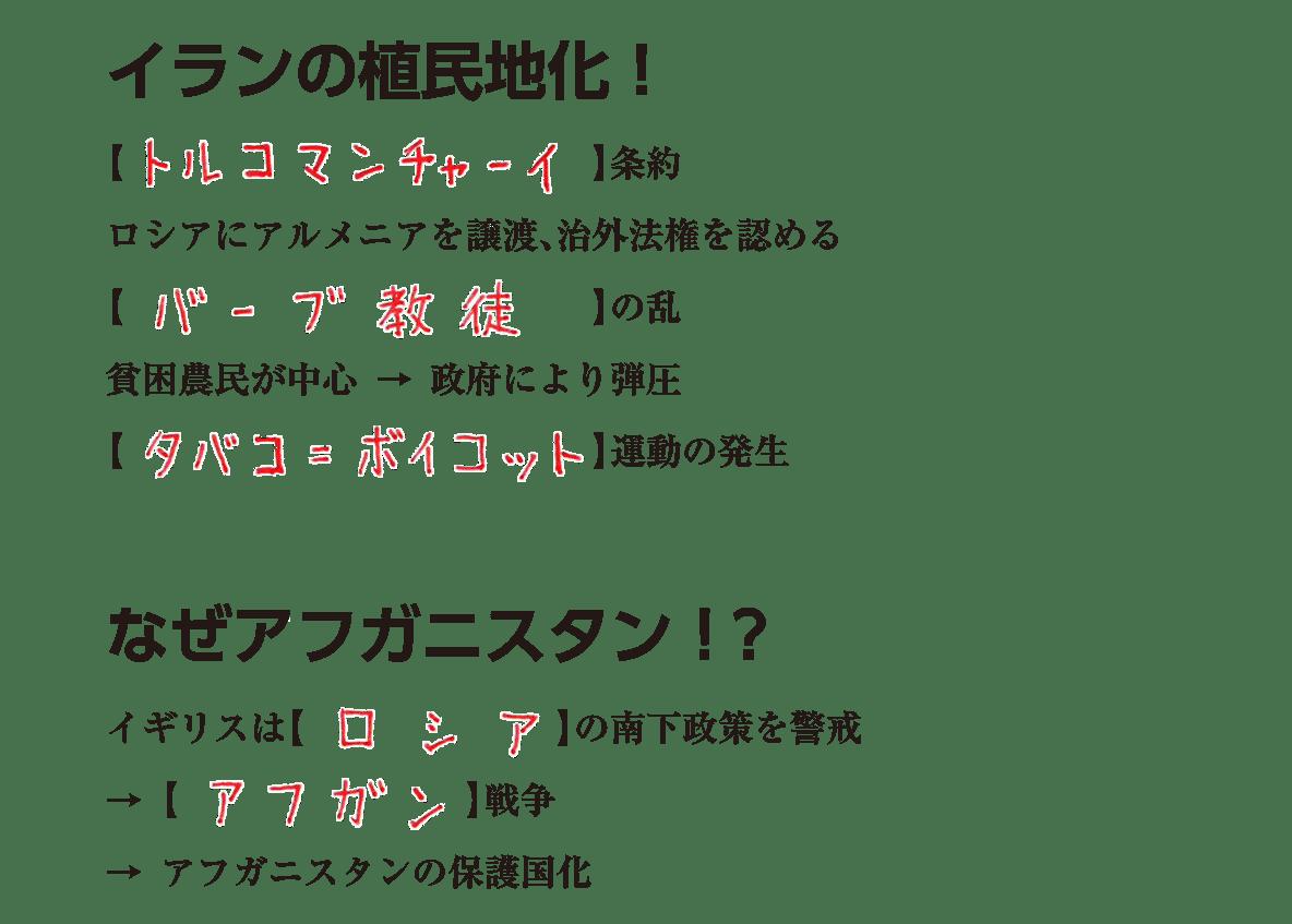 アジア諸地域の植民地化6 練習 答え