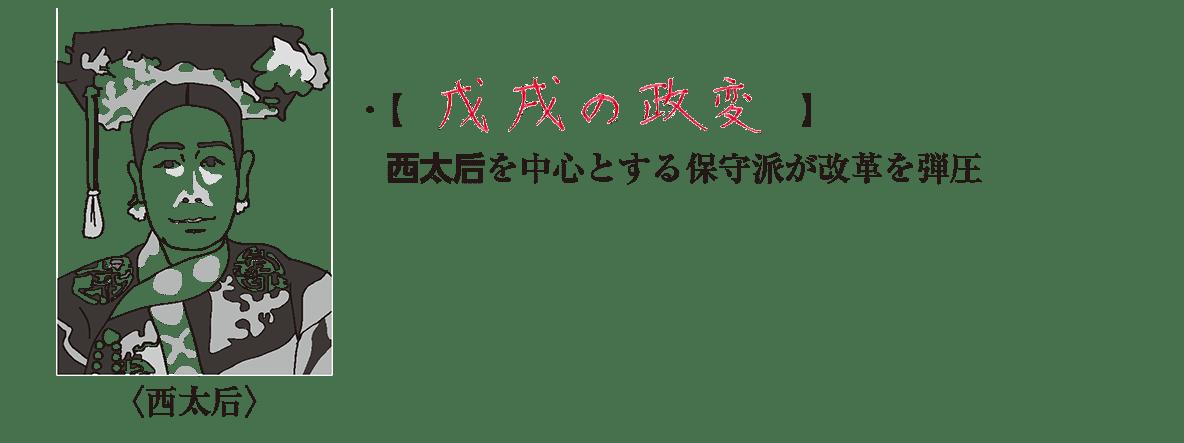 02の続き/西太后のイラスト+右側テキスト2行