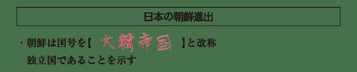 「日本の朝鮮進出」見出し+テキスト全部