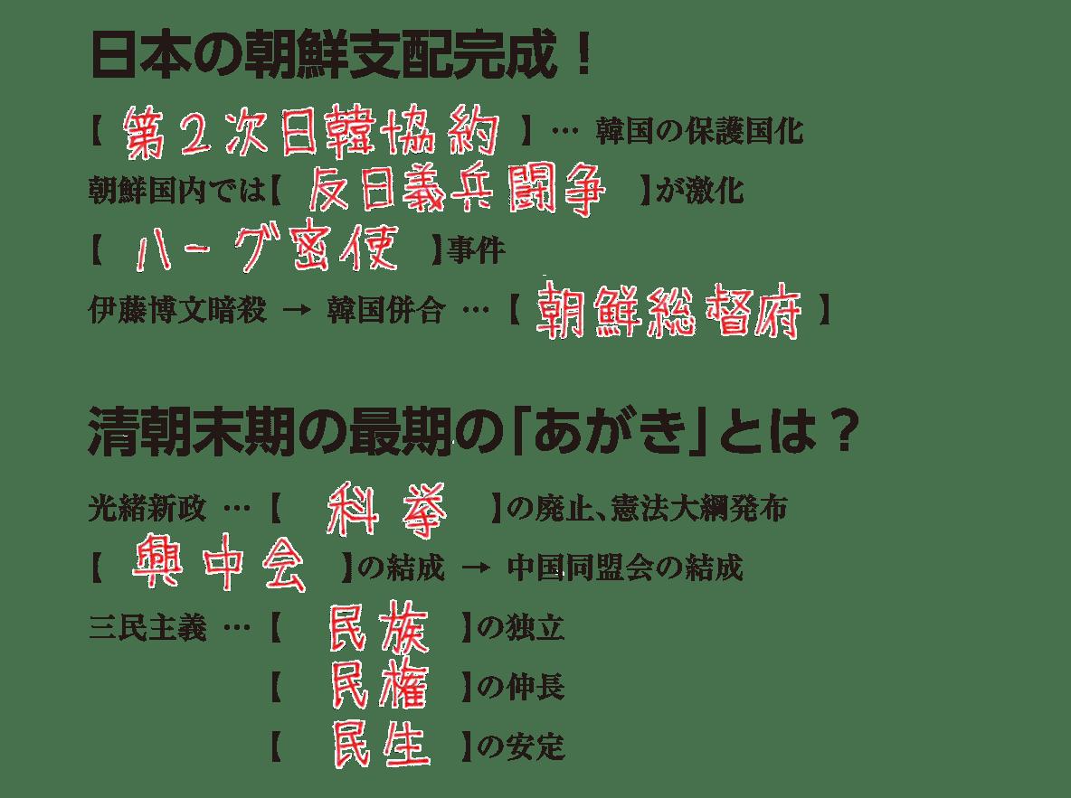 帝国主義と東アジア3 練習 答え