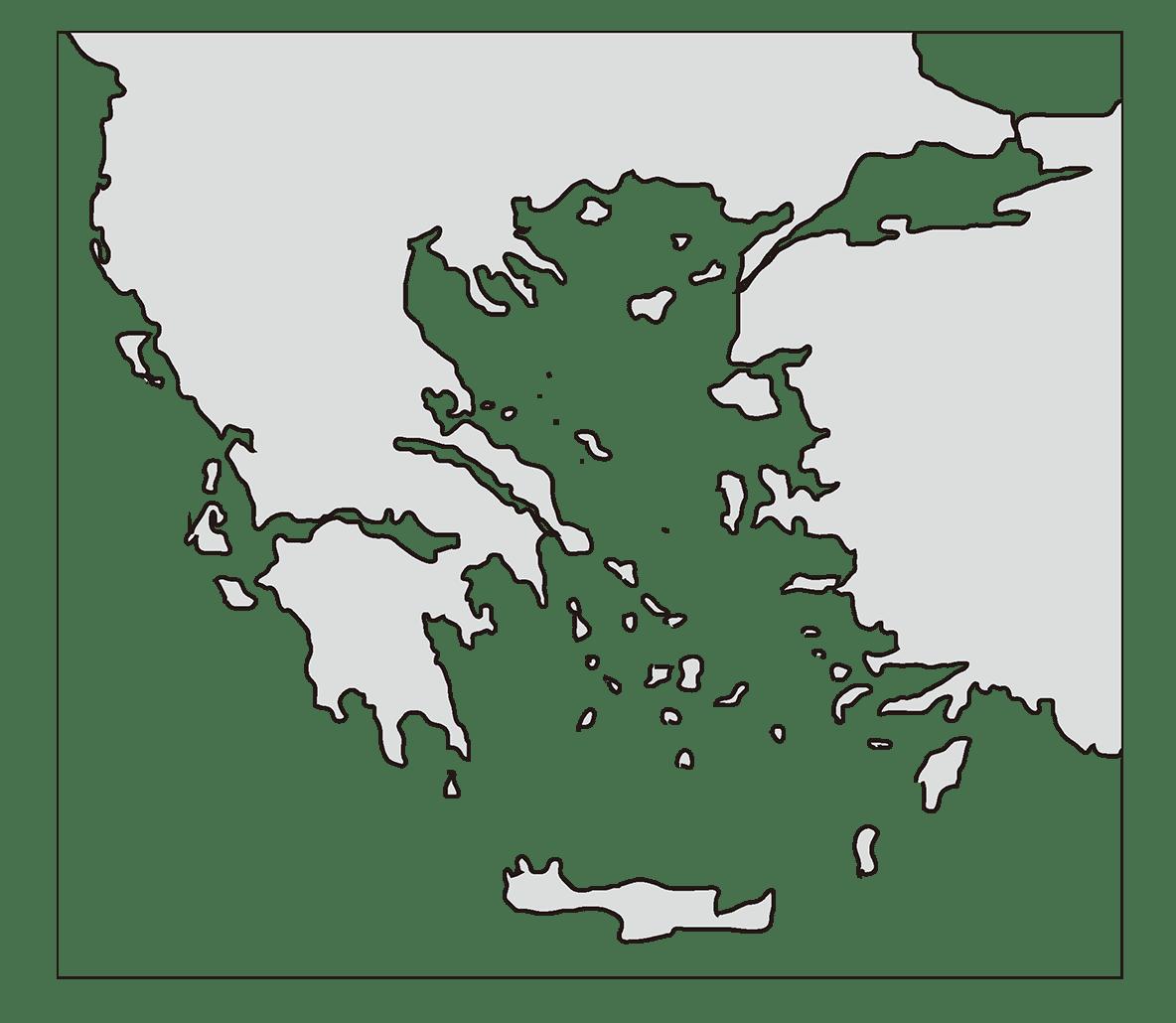 高校世界史 ギリシア世界0 右ページ上部の地図