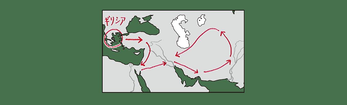 高校世界史 ギリシア世界4 ポイント2前半の地図のみ表示/書き込みアリ