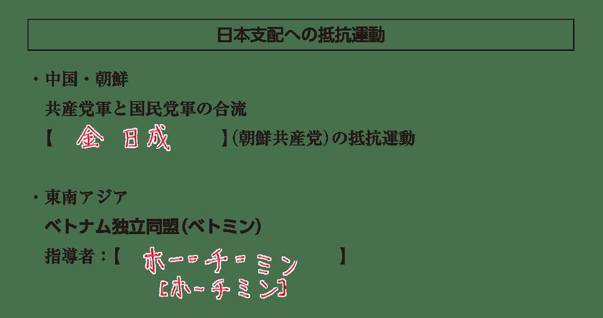 「日本支配への抵抗運動」見出し+テキスト答え入り
