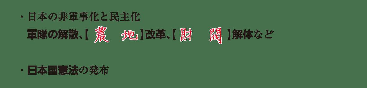 image02の続き3行/日本の非軍事化と民主化~日本国憲法の発布