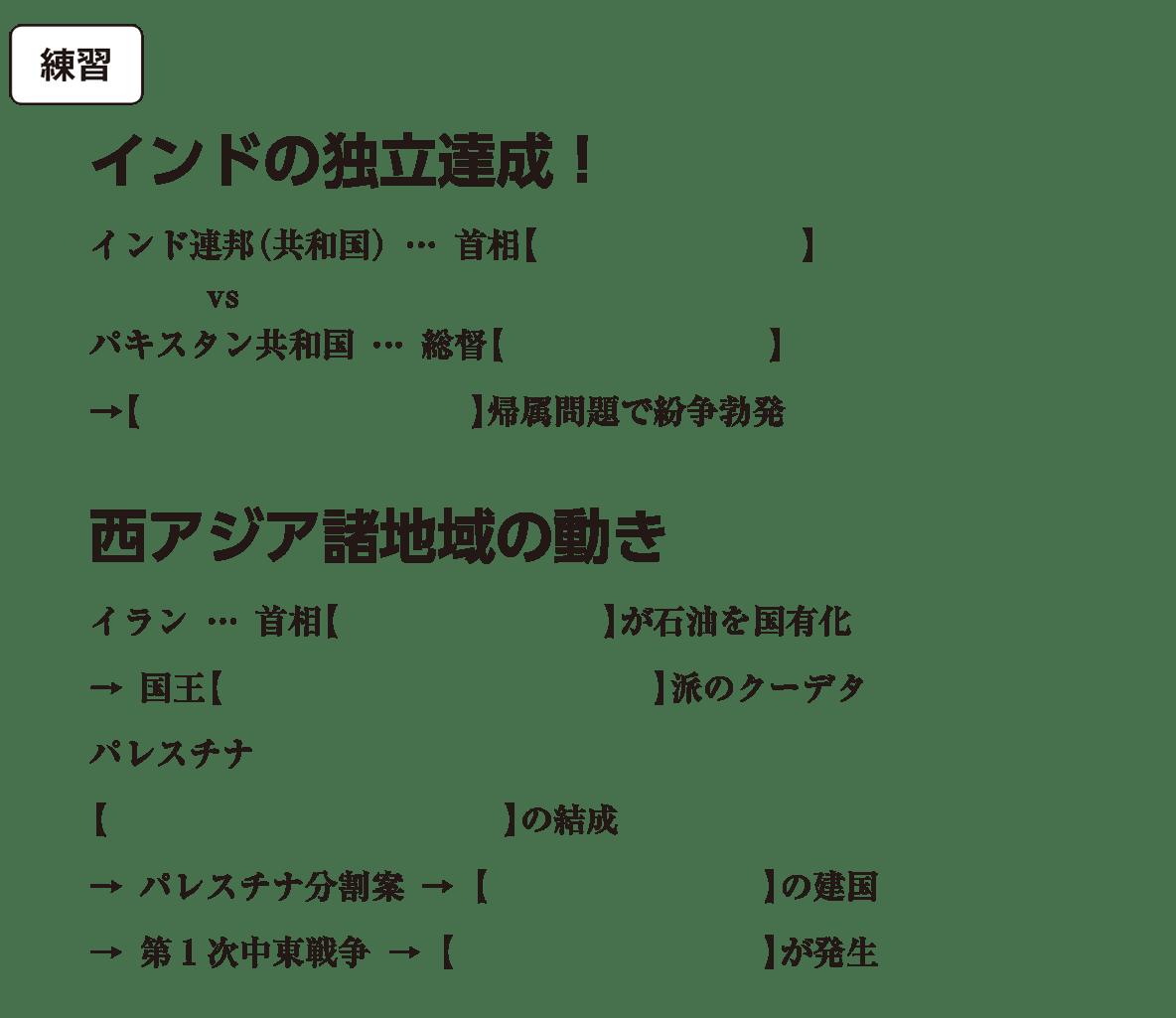 米ソ冷戦の時代6 練習 括弧空欄