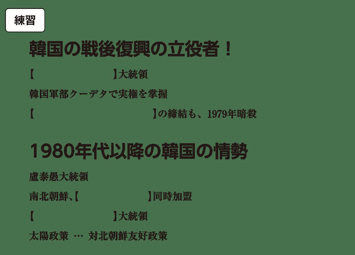 自立を強める東アジア4 練習 括弧空欄