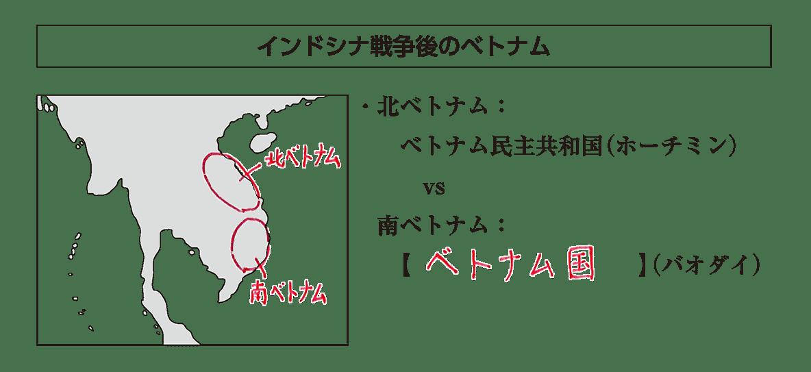 「インドシナ戦争後~」見出し+地図+テキスト5行/~(バオダイ)
