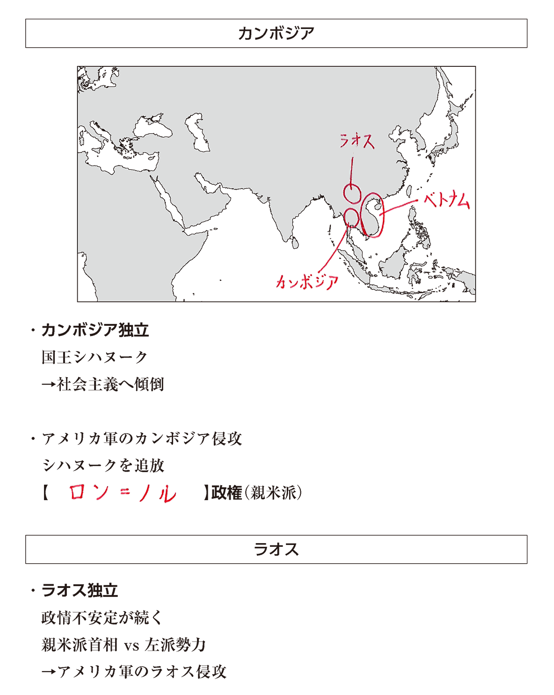 高校世界史 アジア諸地域の紛争2 ポイント1 答え全部