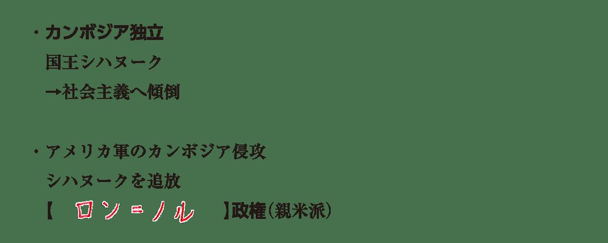 テキストのみ6行/カンボジア独立~(親米派)