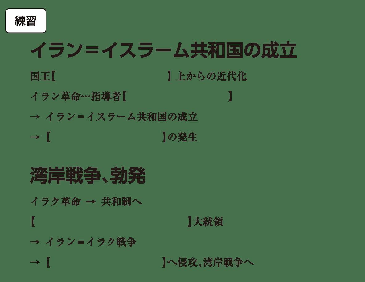 アジア諸地域の紛争6 練習 括弧空欄