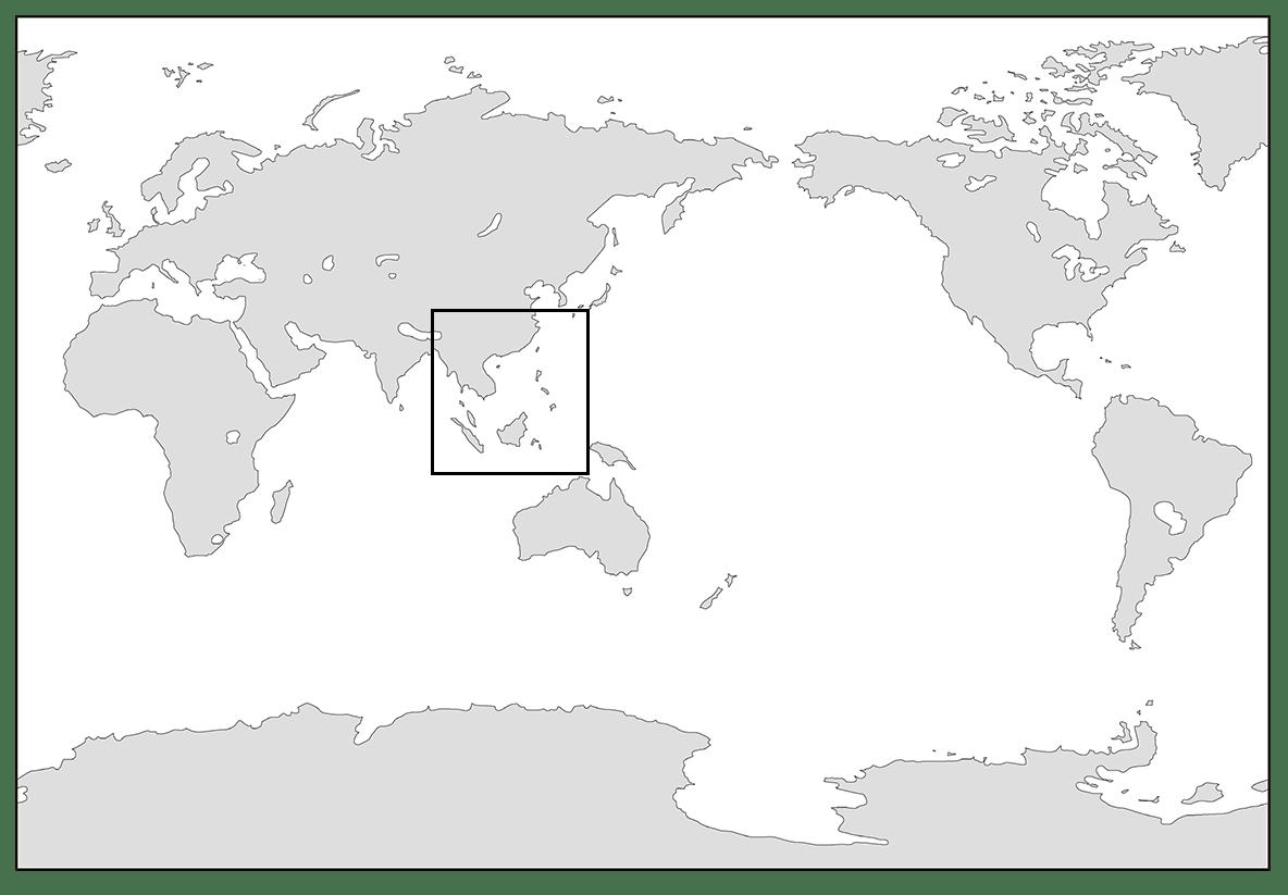 高校世界史 東南アジア前近代史0/世界地図を枠で囲う/ppt参照