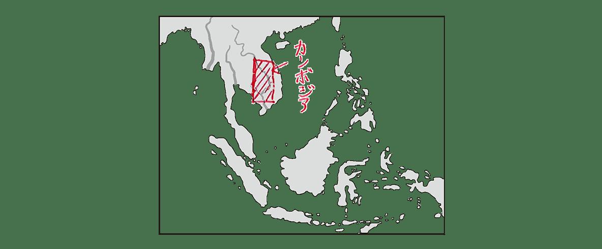 高校世界史 東南アジア前近代史1 ポイント3の地図のみ/書き込みあり