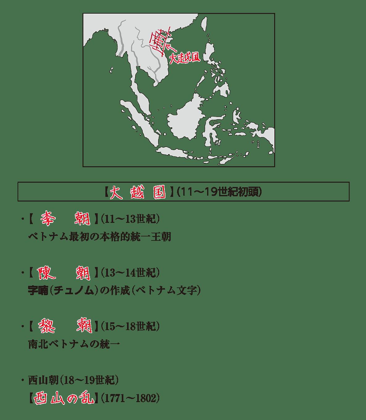 高校世界史 東南アジア前近代史2 ポイント3 答え全部