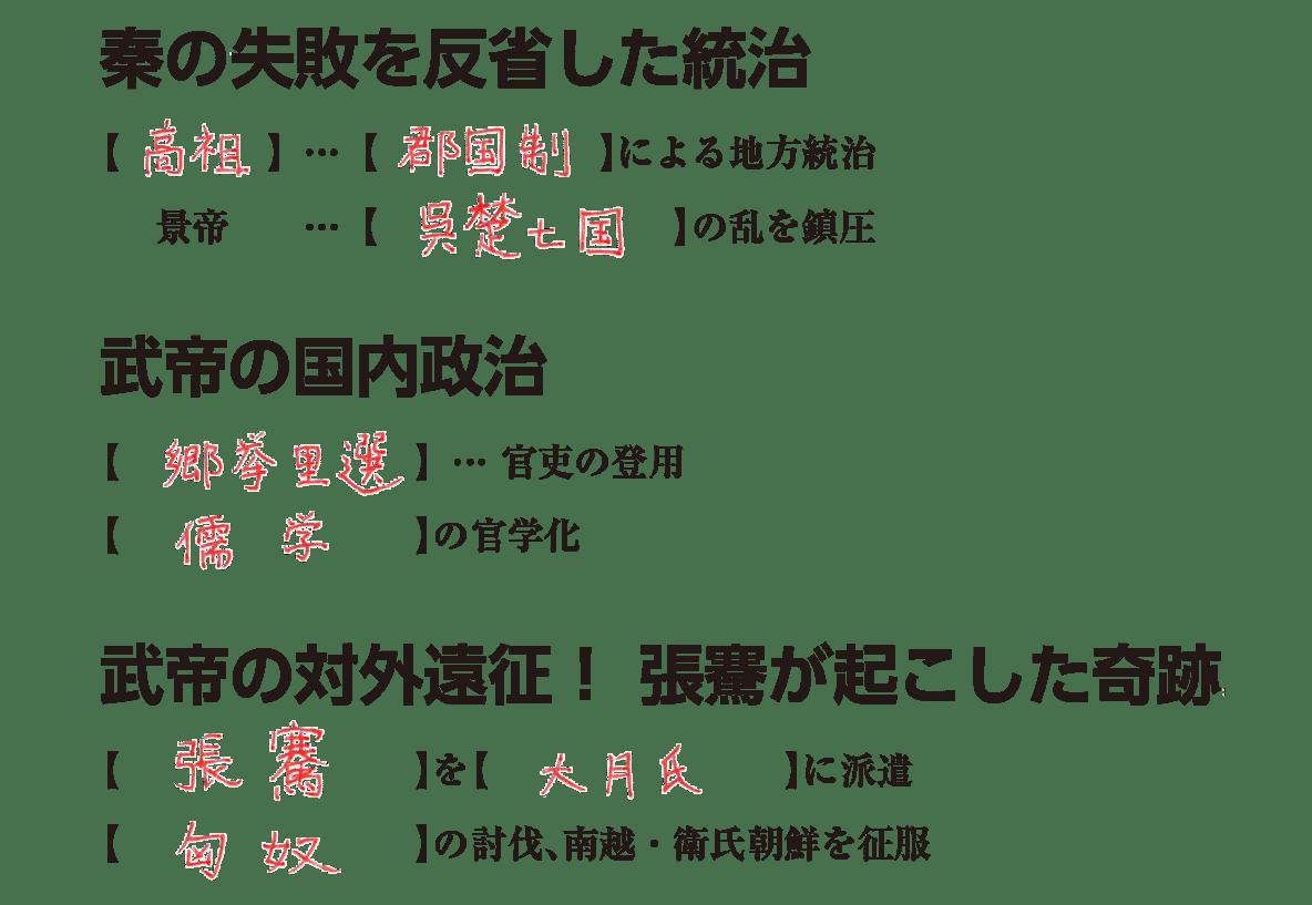 高校世界史 中国の古典文明4 練習 答え入り