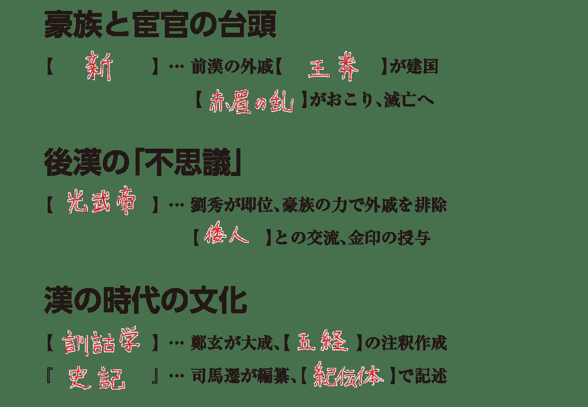 高校世界史 中国の古典文明5 練習 答え入り