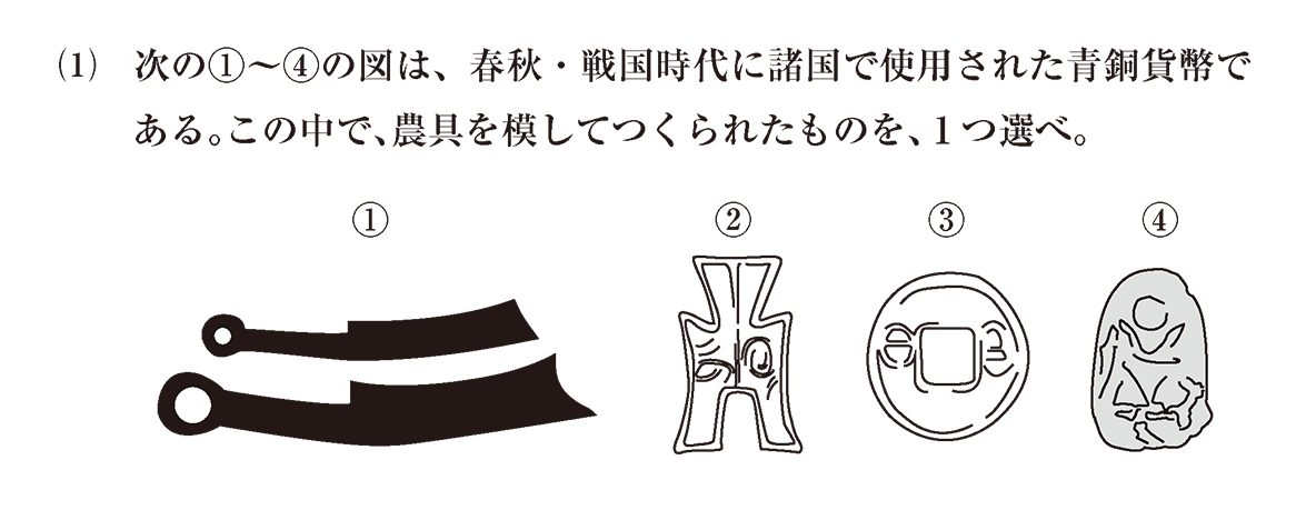 高校世界史 中国の古典文明7 問題3(1)