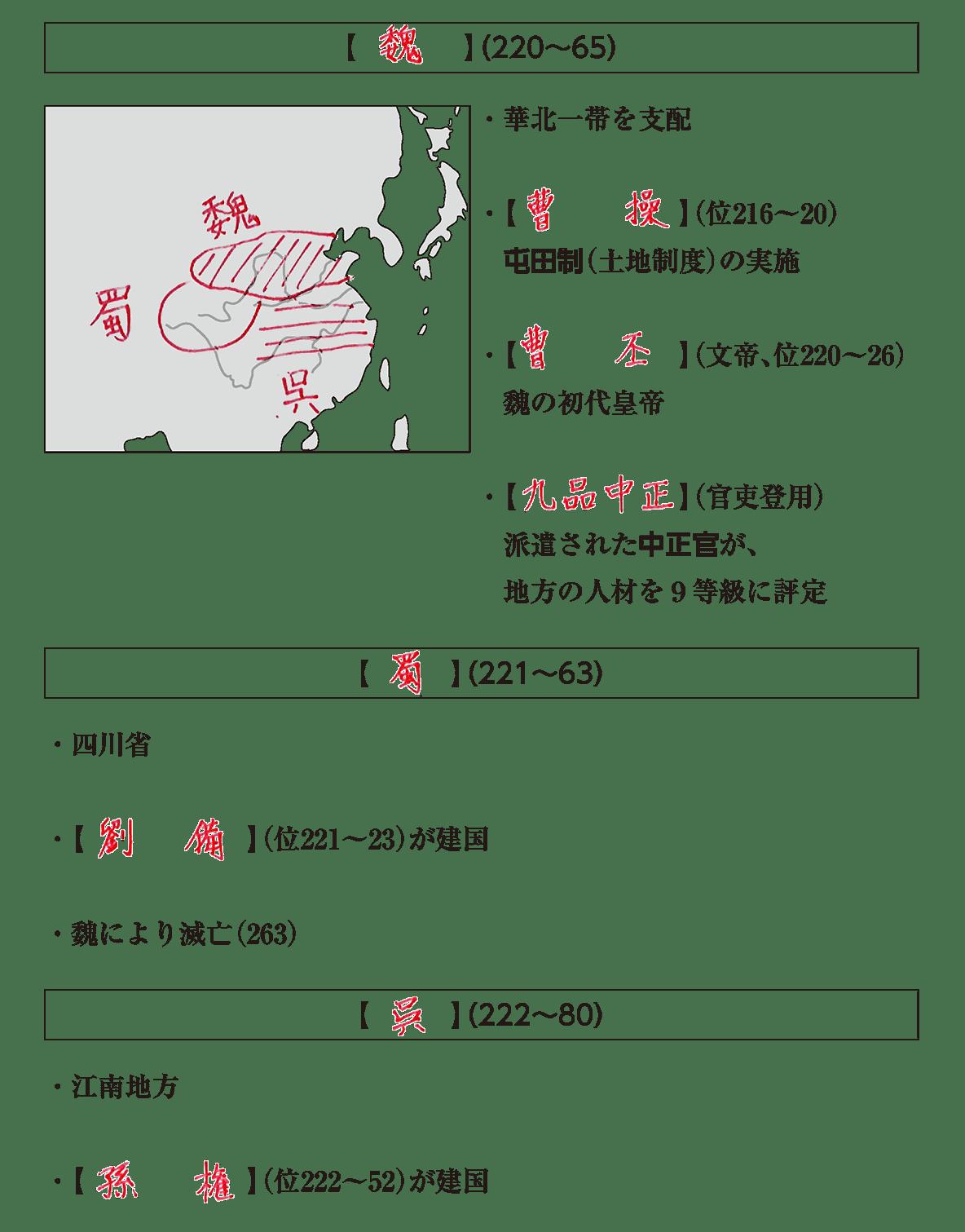 高校世界史 中国の分裂・混乱期1 答え全部