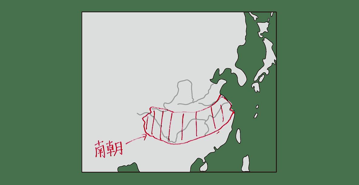 高校世界史 中国の分裂・混乱期2 中国地図 書き込みあり