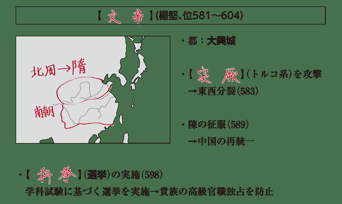 高校世界史 東アジア文明圏の形成1 ポ1/答え入り
