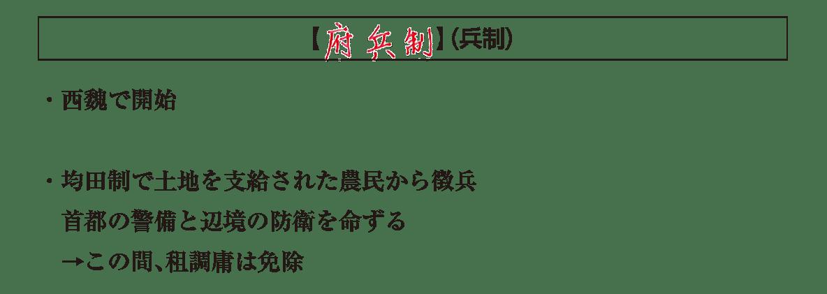 高校世界史 東アジア文明圏の形成1 ポ3/府兵制の項目/答え入り