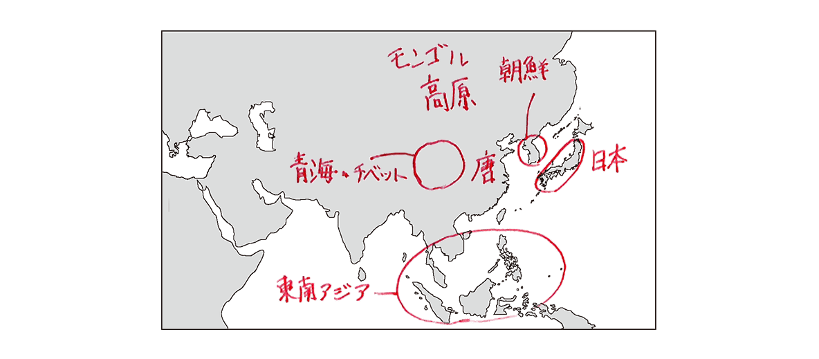 高校世界史 東アジア文明圏の形成4 ポ3/地図のみ表示/書き込みあり