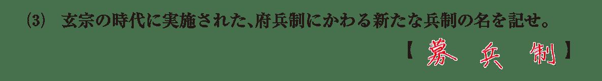 高校世界史 東アジア文明圏の形成7 問題2(3)答えアリ