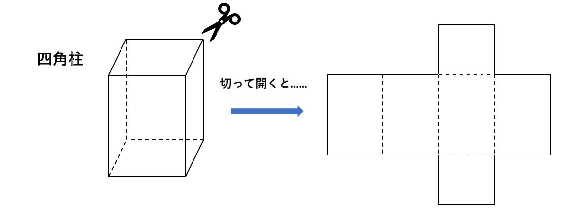 テスト記事 中1 数学5 四角柱の展開図