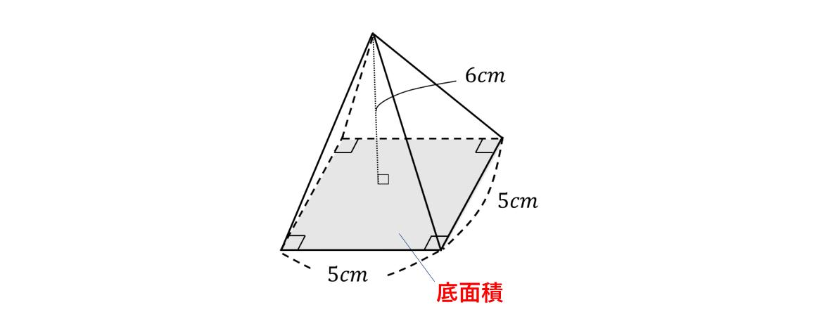 四角 すい の 体積