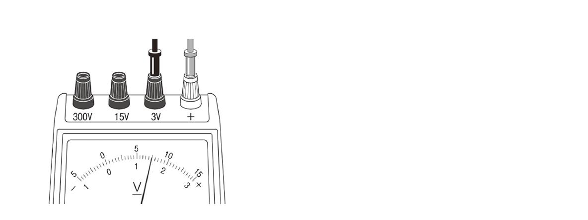 テスト記事 中2 理科2 電圧計