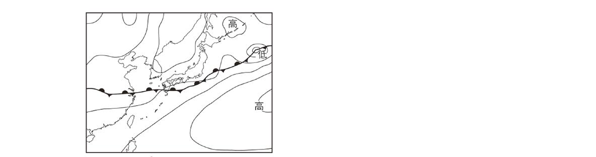 テスト記事 中2 理科8 梅雨の天気図